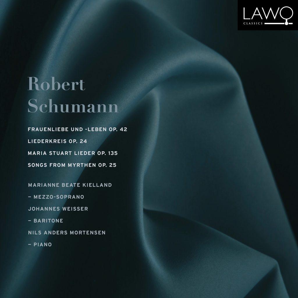 Platecover for Kielland og Weisser som synger Robert Schumann