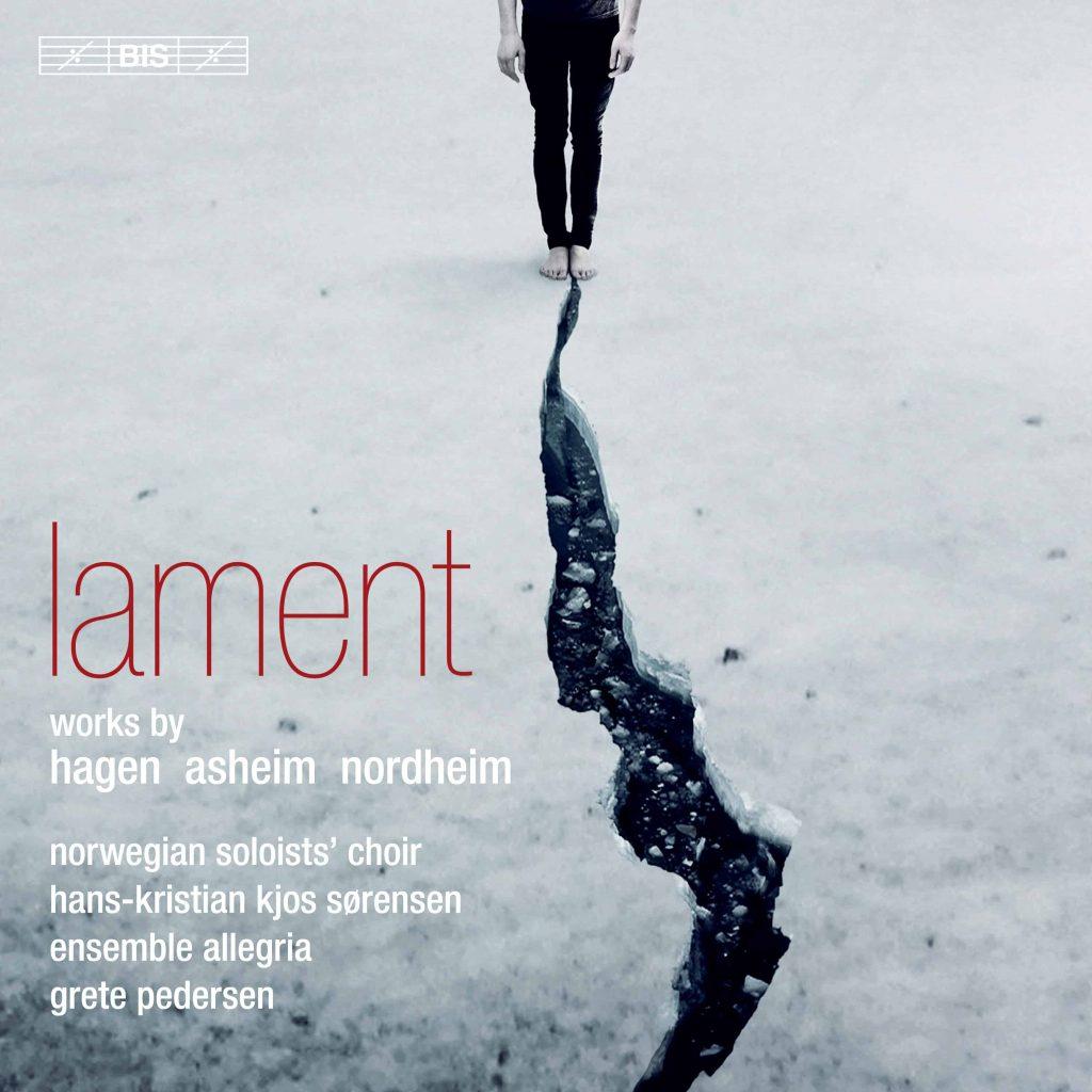 Platecover for Lament, Solistkoret synger Hagen, Asheim og Nordheim