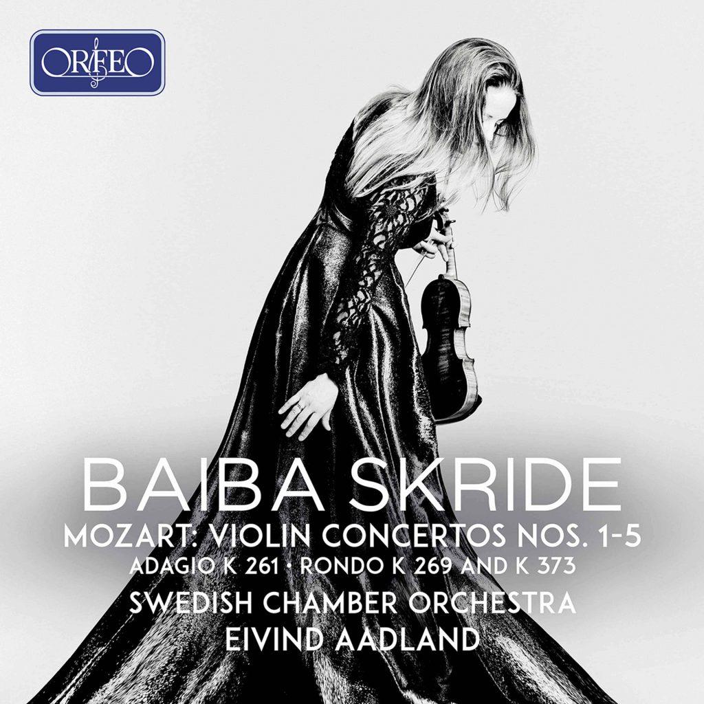 Platecover for Baiba Skride og Eivind Aadland i Mozarts fiolinkonserter