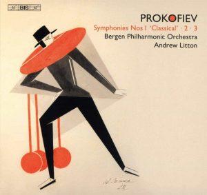 Platecover for Prokofiev, symfonier 1-3 med Andrew Litton og Bergen Filharmoniske Orkester