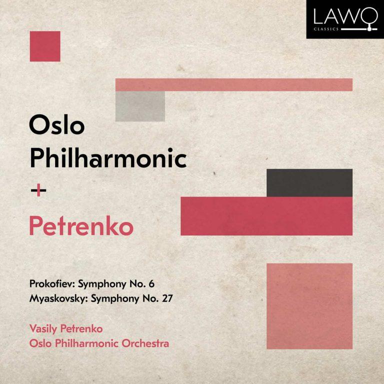 Platecover for Oslofilharmonien som spiller Prokofjev og Mjaskovskij