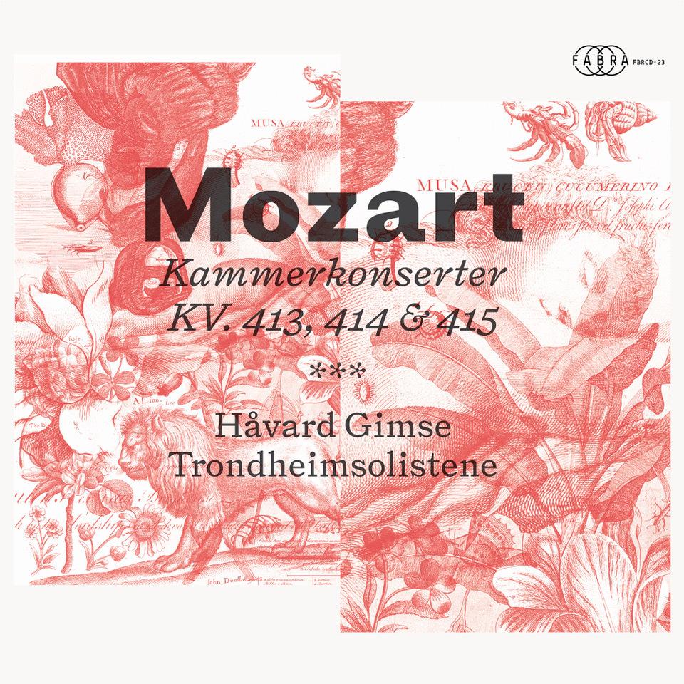Platecover for Håvard Gimse og Trondheimsolistene som spiller Mozart